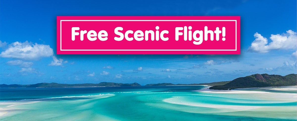 Free scenic flight over the Whitsunday Islands when you book Australia East Coast Adventure