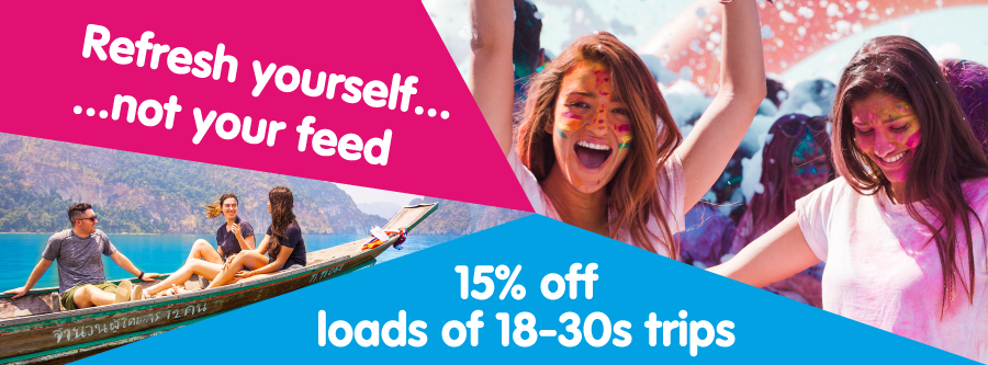 15% off 18-30s trips with Gap 360