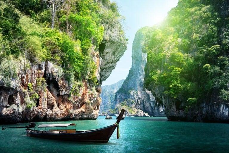 Thai boat in Krabi